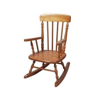 Giftmark 1410H Child apos;s Spindle Rocking Chair Honey