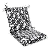 """36.5"""" Bold Geometric Star Outdoor Patio Chair Cushion with Ties - White"""