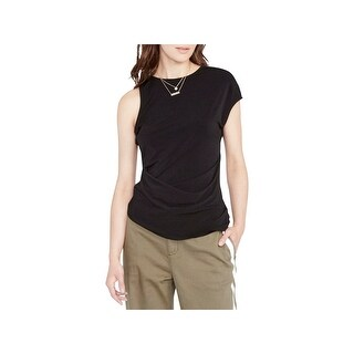 Rachel Rachel Roy Womens Knit Top Hi-Low Short Sleeve