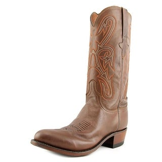 Lucchese Ranch Hand 2E Round Toe Leather Western Boot