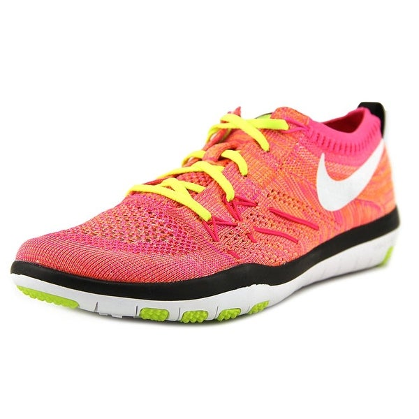 bc74ad5e4f9c3 Nike Free Tr Focus Flyknit Women Round Toe Synthetic Pink Tennis Shoe