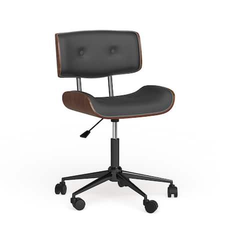 Carson Carrington Leksand Simple Mid-century Modern Office Chair - N/A