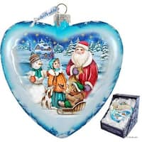 GDeBrekht  5.5 in. Limited Edition Holiday Trip Glass Heart Ornament