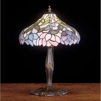 Meyda Tiffany 52134 Stained Glass / Tiffany Accent Table Lamp from the Classic Wisteria Collection - n/a