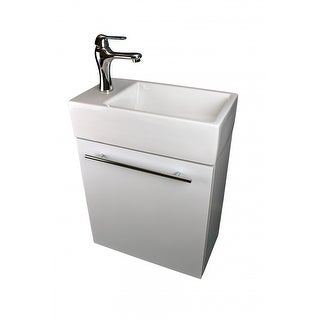 Renovators Supply White Wall Mount Cabinet Vanity Bathroom Sink