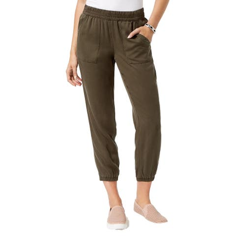 Style & Co Women's Tencel Jogger Pants Deep Moss Size 10 - Green
