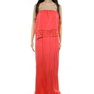Love On A Hanger NEW Orange Women's Size 2X Plus Crochet Maxi Dress