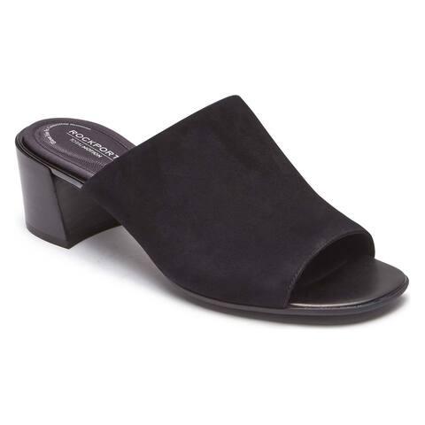 Rockport Womens Tm Alaina Luxe Mule Open Toe Casual Slide Sandals