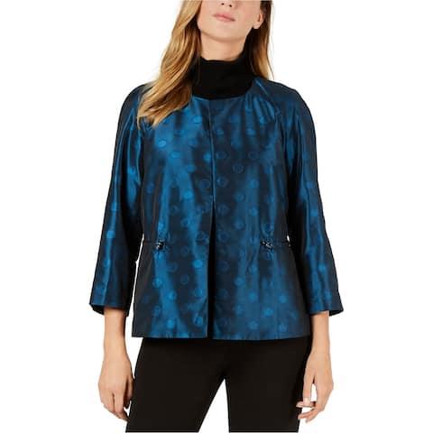 Anne Klein Womens Ikat Cropped Jacket
