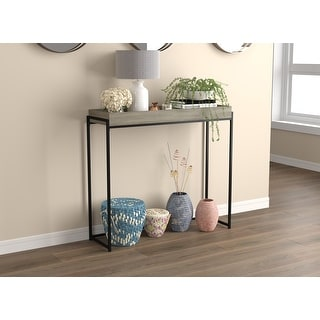 """Link to Console Table 35L Dark Taupe Sunken Tray - 35.5"""" x 12"""" x 39.5"""" Similar Items in Living Room Furniture"""