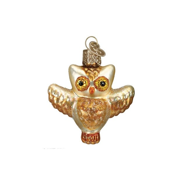 "2.25"" Old World Christmas Winky Owl Glass Ornament #16089"