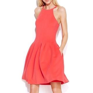 Calvin Klein NEW Watermelon Women's Size 10 Pleated Scuba Sheath DRess