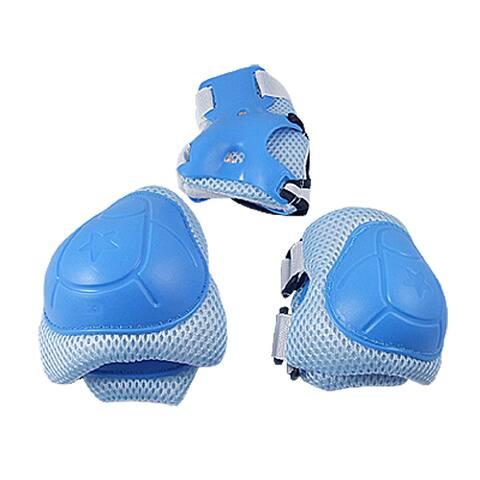 Skating Knee Elbow Wrist Protective Guard Pad Set Blue