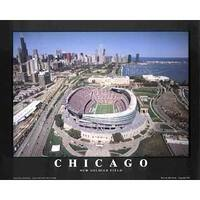 ''Chicago, Illinois - New Soldier Field'' by Mike Smith Stadiums Art Print (22 x 28 in.)