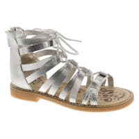 Primigi Girls 14401 Leather European Fashion Gladiator Sandals - Silver
