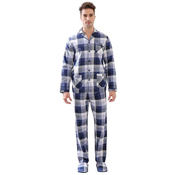 Richie House Men's Pajama Two-piece Pajama Set or Slippers