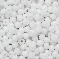 True2 Czech Glass, Round Druk Beads 2mm, 200 Pieces, Chalk White