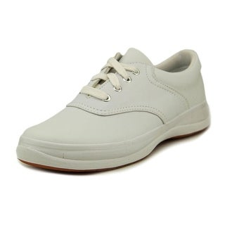Keds School Days II Women Round Toe Leather White Sneakers