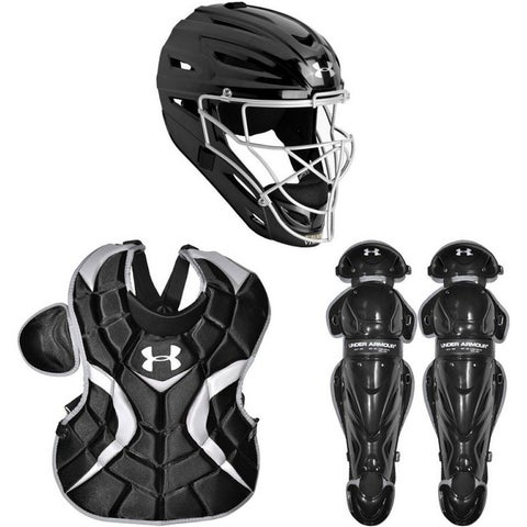 Under Armour Baseball PTH Victory Series Youth Catching Kit (Black, Small / Ages 7-9)