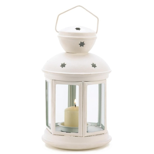Modern White Colonial Candle Lamp