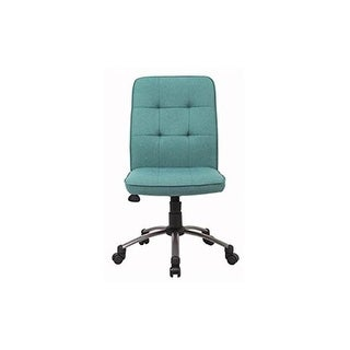 Norstar B330PM-GN Green Linen Chair with Pewter Mist Base