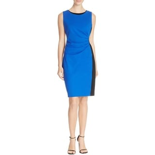 T Tahari Womens Marianna Wear to Work Dress Ponte Ruched