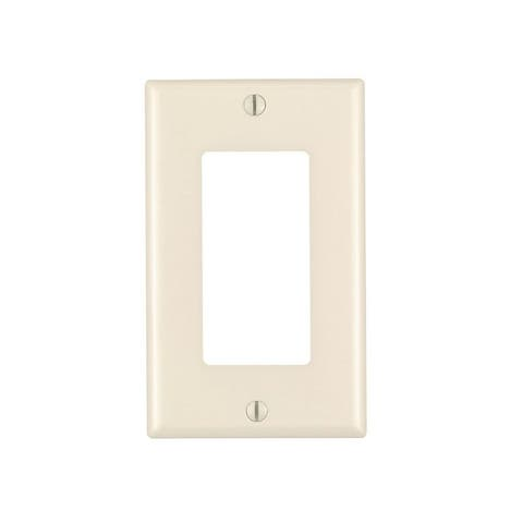 1 Gang Decora Plate Light Almond