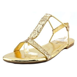 Rampage Patience Women Open Toe Synthetic Gold Sandals