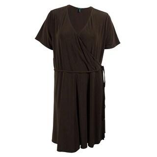 Lauren Ralph Lauren Women's 3/4 Sleeve Faux Wrap Dress - 3x
