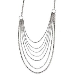Chisel Stainless Steel Multi Chains Slip-on Necklace - 30 in