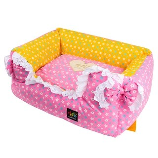 "Alpha Dog Series - ""Stars & Ribbon Bed"" (Pink)"