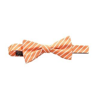 Countess Mara Orange Thin Stripe Bow Tie Os