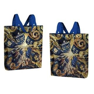 Doctor Who Large Tote Bag Van Gogh Exploding TARDIS - Multi