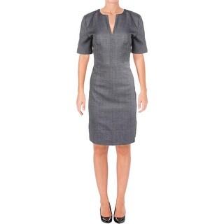BOSS Hugo Boss Womens Dalesana Wear to Work Dress Wool Textured