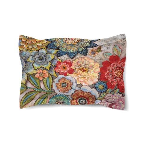 Boho Bouquet Comforter Sham