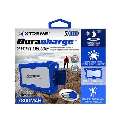 Xtreme Cables Xbb8-0109-Blu Duracharge Dual Port Weatherproof Power Bank - Blue