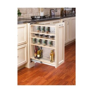 Rev-A-Shelf 433-BF-9C 9 Inch Filler Organizer with Adjustable Shelves and Stainless Steel Panel - N/A