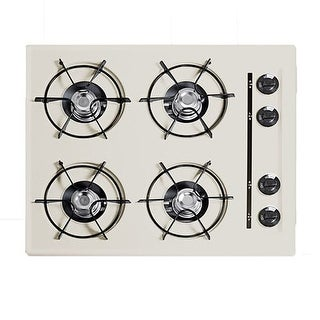 Summit SNL033 24 Four-Burner Gas Cooktop in Bisque