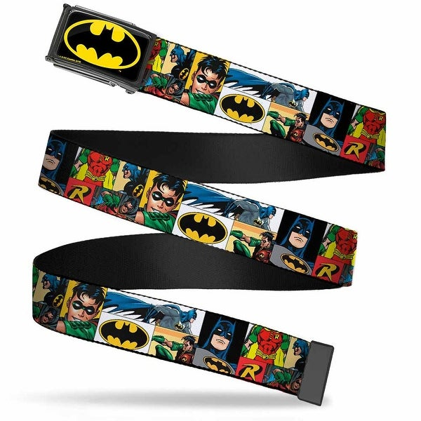 Batman Fcg Black Yellow Chrome Batman & Robin Action Panels Webbing Web Belt