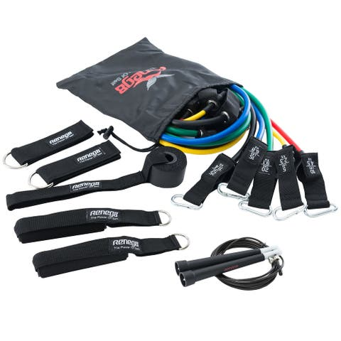 Resistance bands set of 11 with jump rope