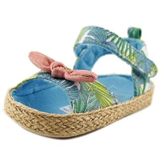 Rosie Pope Tropical Infant Open-Toe Canvas Blue Slingback Sandal
