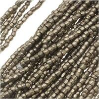 Czech Tri-Cut Seed Beads 10/0 'Terra Metallic Steel' (1 Strand/360 Beads)