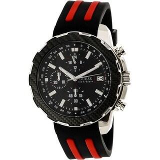 Guess Men's U1047G1 Black Silicone Quartz Fashion Watch