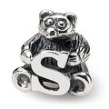 Sterling Silver Reflections Kids Letter S Bead (4mm Diameter Hole) - Thumbnail 0