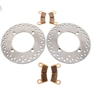 Brake Rotors and Brake Pads fits Polaris RZR S4 900 2018 Rear by Race-Driven