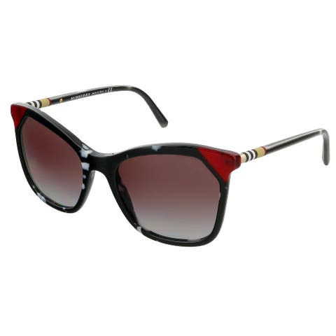 Burberry 0BE4263 370990 Black/ tortoise white/ red Butterfly Sunglasses - 54-19-140