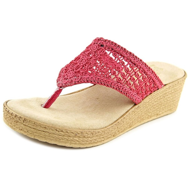 Sbicca Tomatillo Women  Open Toe Canvas Pink Thong Sandal
