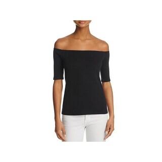 Splendid Womens Casual Top Off Shoulder Elbow Sleeves