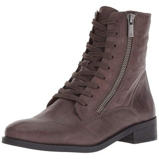 Lucky Brand Womens Hildran Leather Almond Toe Ankle Fashion Boots