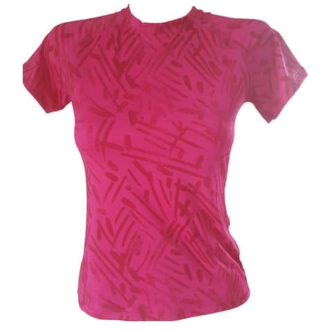 Activewear Yoga T-Shirt - Pink Rose Print